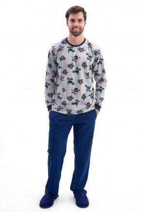 pijama de inverno masculino flanelado dinossauros mania pijamas 2