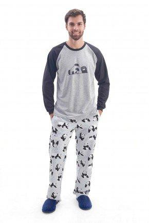 pijama masculino flanelado de inverno panda mania pijamas 3