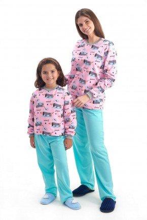 pijama mae e filha flanelado de invnerno comprido com calca cachorros mania pijamas 2