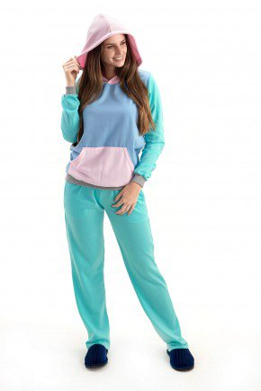 pijama feminino candy color flanelado mae e filha 2