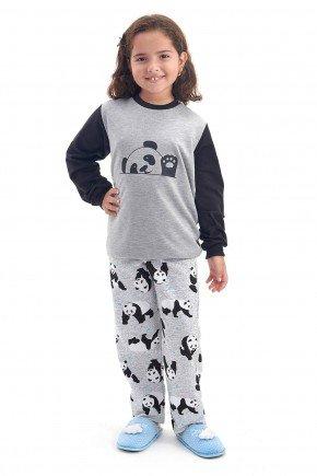 pijama infantil e juvenil feminino flanelado de inverno pijama de panda mania pijamas 2
