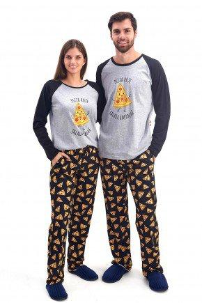 pijama de casal inverno longo com calca pizzas mania pijamas 2