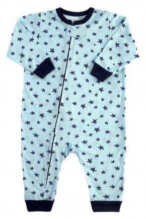 pijama macacao para bebe longo estrelas modelo familia 1