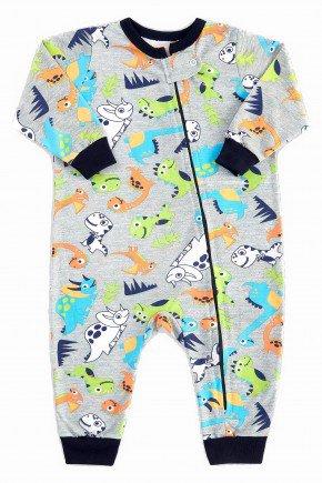 macacao para bebe longo dinossauros coloridos pijama para bebe 1