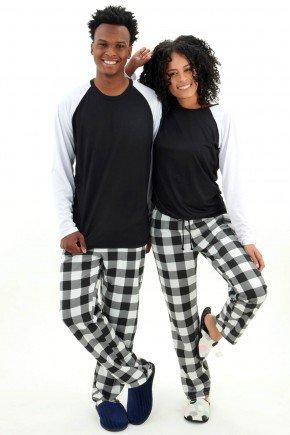 pijama casal xadrerz manga comprida com calca de inverno mania pijamas 1