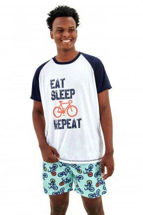 pijamas masculino adulto curto bike e ciclistas mania pijamas 5