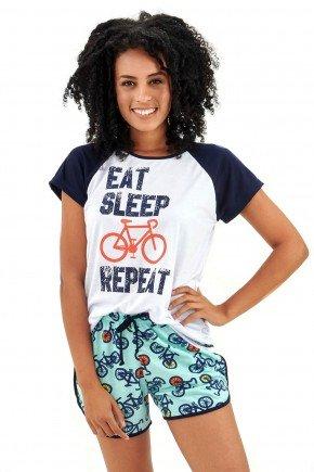 pijama feminino adulto curto bike e ciclistas mania pijamas 5