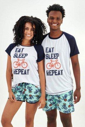 pijama de casal curto com shorts bike e ciclistas mania pijamas 2