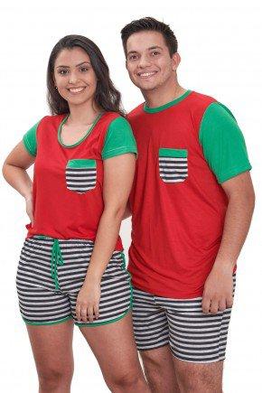 pijama de natal casal vermelho curto edicao limitada 2021 mania pijamas contem direitos autorais de uso de imagem 1