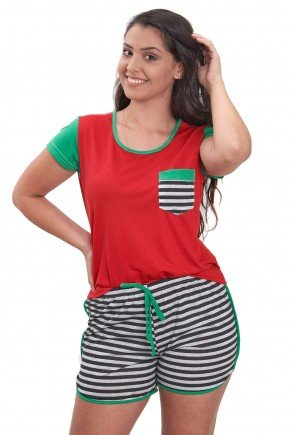 pijama de natal feminino vermelho curto edicao limitada 2021 mania pijamas contem direitos autorais de uso de imagem 3
