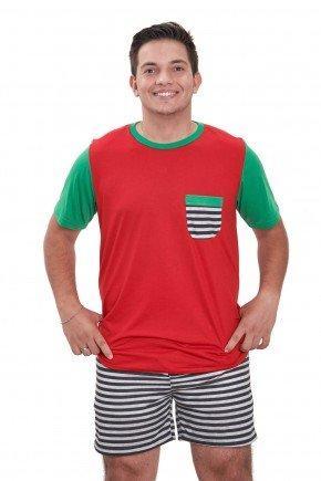 pijama de natal masculino vermelho curto edicao limitada 2021 mania pijamas contem direitos autorais de uso de imagem 1