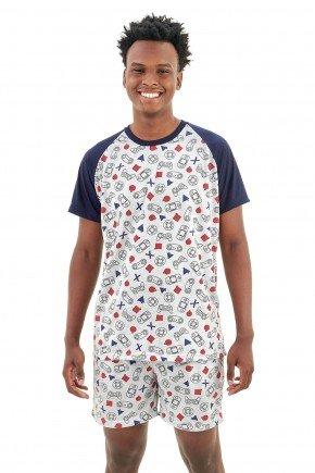 pijama masculino curto com short geek e video game mania pijamas essa imagem possui direitos autorais 4