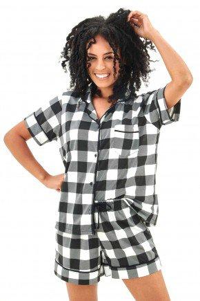 pijama americano feminino curto xadrez mania pijamas essa imagem possui direitos autorais 3
