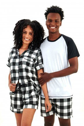 pijama de casal xadrez branco e preto mania pijamas essa imagem possui direitos autorais 2
