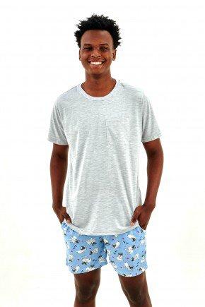 pijama masculino curto com shorts pug dog pets mania pijamas essa imagem possui direitos autorais 3
