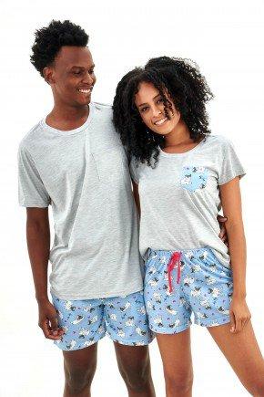pijama de casal curto com shorts pug dog pets mania pijamas essa imagem possui direitos autorais 1