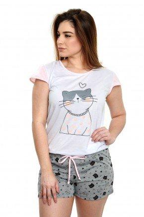pijama de gatinho feminino curto com shorts mania pijamas essa imagem possui direito autorais 3