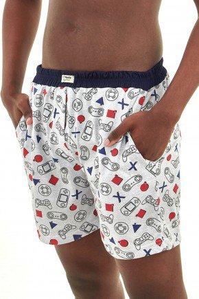 cueca samba cancao masculina com bolsos geek e video game mania pijamas essa imagem possui direitos autorais 4