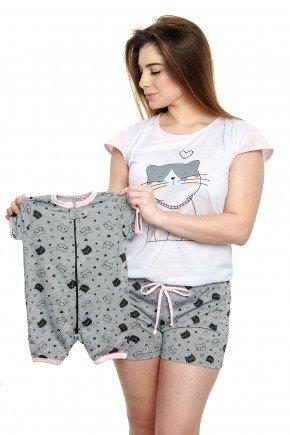 pijama de gatinho kit mamae e bebe mania pijamas 1