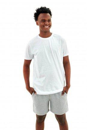 pijama masculino curto algodao basico branco com moletinho cinza mescla mania pijamas essa imagem possui direitos autorais 3
