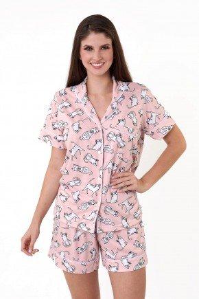 pijama americano feminino de gatinhos com abertura em botoes mania pijamas essa imagem possui direitos autorais 4